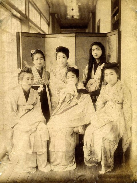 Prostitutes in the Shimpuro Brothel, Yokohama