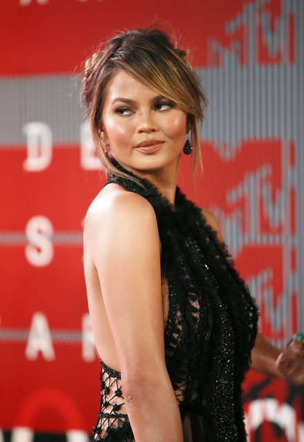 Model Chrissy Teigen arrives at the 2015 MTV Video Music Awards in Los Angeles, California, August 30, 2015. (Photo by Danny Moloshok/Reuters)