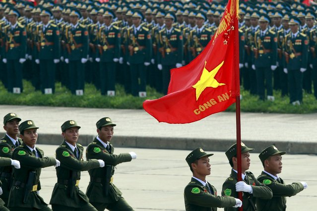 Commune policemen march during a parade marking Vietnam's 70th National Day at Ba Dinh square in Hanoi, Vietnam September 2, 2015. (Photo by Reuters/Kham)