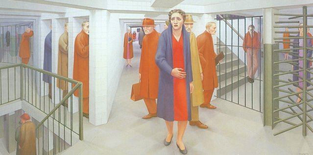 The Subway. Artwork by George Tooker