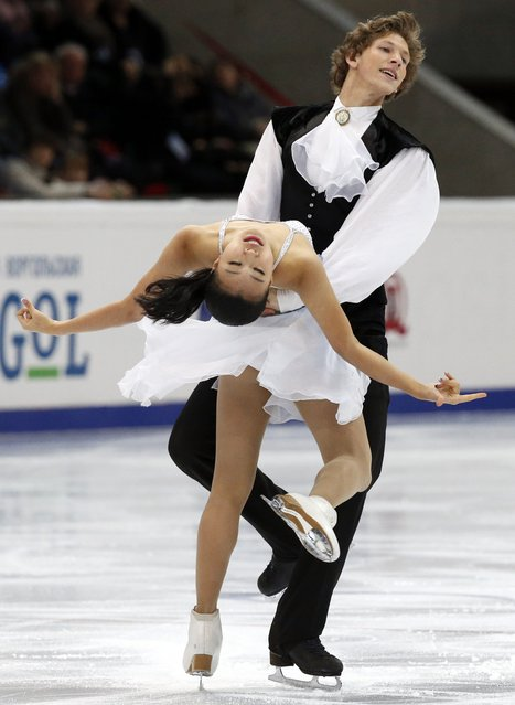 South Korea's Rebeka Kim and Kirill Minov perform during the ice dance free dance program at the Rostelecom Cup ISU Grand Prix of Figure Skating in Moscow November 15, 2014. (Photo by Grigory Dukor/Reuters)