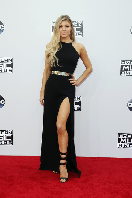 Fergie arrives at the 42nd American Music Awards in Los Angeles. (Photo by Danny Moloshok/Reuters)