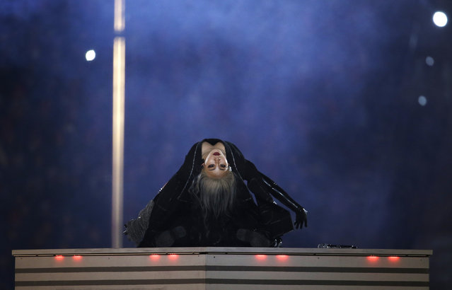 Singer CL performs during the closing ceremony of the 2018 Winter Olympics in Pyeongchang, South Korea, Sunday, February 25, 2018. (Photo by Natacha Pisarenko/AP Photo)