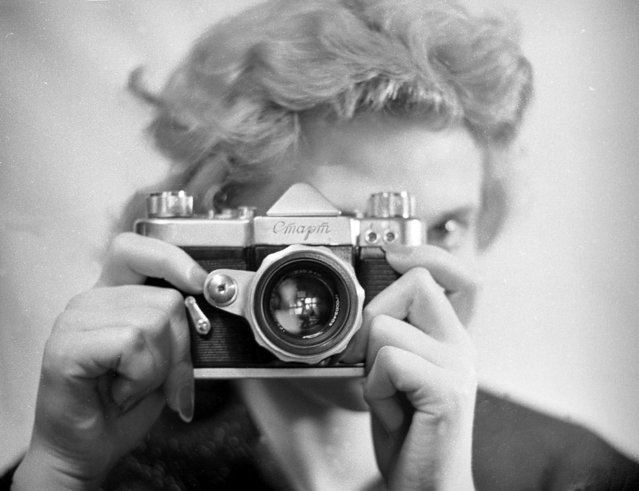 Start, 1959. Taken from an article about the production of a new camera model – the Start – by Vladimir Stepanov. (Photo by Vladimir Stepanov/Lumiere Brothers Center for Photography)