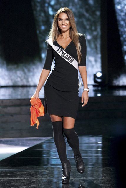 Miss Finland 2015 Rosa-Maria Ryyti poses during rehearsals at the Planet Hollywood Resort & Casino in Las Vegas, Nevada, December 19, 2015, in this handout photo provided by the Miss Universe Organization. (Photo by Richard D. Salyer/Reuters/The Miss Universe Organization)