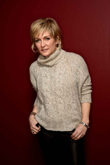 Actress Amy Carlson poses for a portrait during the 2014 Sundance Film Festival at the Getty Images Portrait Studio at the Village At The Lift on January 21, 2014 in Park City, Utah. (Photo by Larry Busacca/AFP Photo)