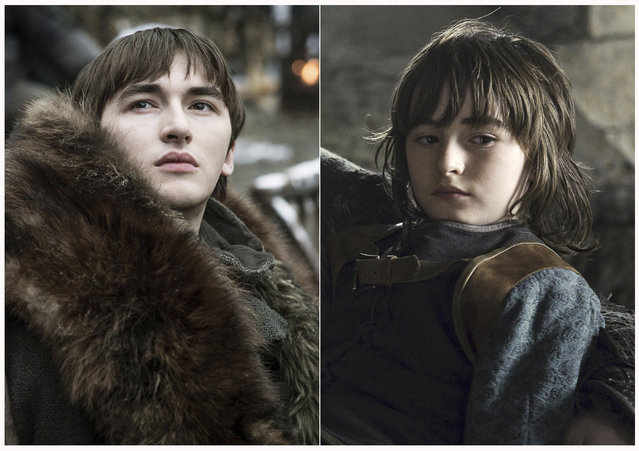 "This combination photo of images released by HBO shows Isaac Hempstead Wright portraying Bran Stark in ""Game of Thrones"". The final season of the popular series premieres on April 14. (Photo by HBO via AP Photo)"