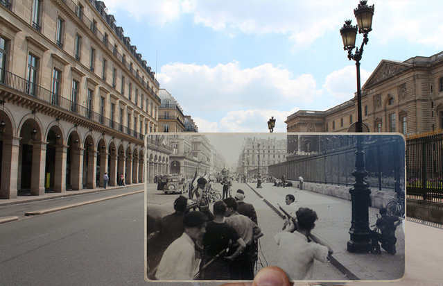 Rue de Rivoli in the 1940s. (Photo by Julien Knez/Caters News)