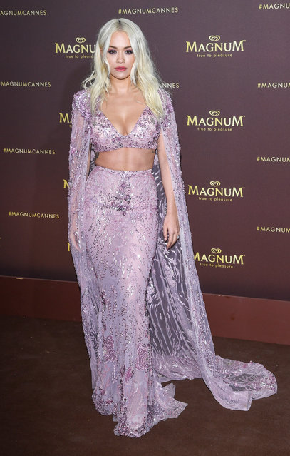 "Rita Ora arrives at the ""MAGNUM x Rita Ora"" Party during the 72nd annual Cannes Film Festival on May 16, 2019 in Cannes, France. (Photo by Daniele Venturelli/WireImage)"