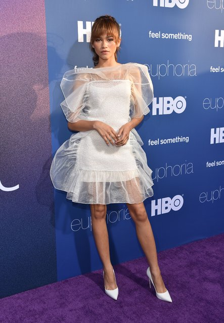 """US actress Zendaya attends the Los Angeles premiere of the new HBO series """"Euphoria"""" at the Cinerama Dome Theatre in Hollywood on June 4, 2019. (Photo by Chris Delmas/AFP Photo)"""