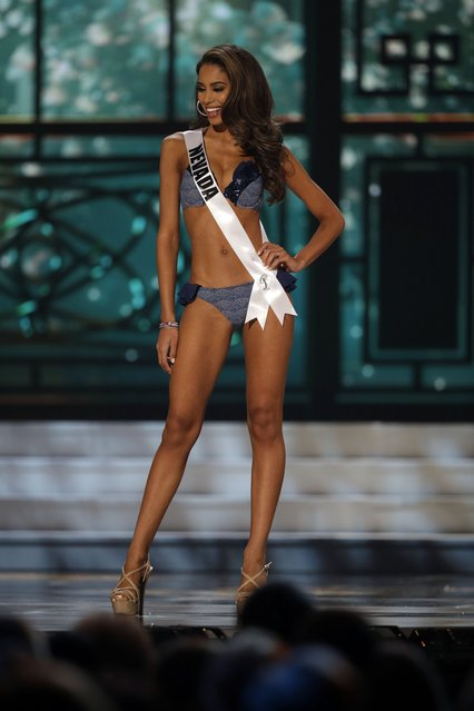Miss Nevada, Brittany McGowan, competes in the bathing suit competition during the preliminary round of the 2015 Miss USA Pageant in Baton Rouge, La., Wednesday, July 8, 2015. (Photo by Gerald Herbert/AP Photo)