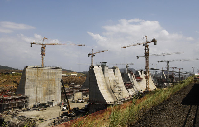 A general view of the construction of the new locks on the Pacific side at the Panama Canal Expansion project in Panama City April 15, 2013. (Photo by Carlos Jasso/Reuters)