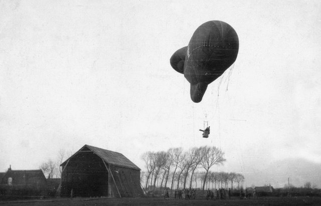 A German Type Ae 800 observation balloon ascending. (Photo by Brett Butterworth via The Atlantic)