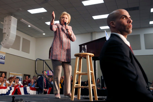 U.S. Democratic presidential candidate Hillary Clinton speaks at the UFCW Union Local 324 in Buena Park, California, U.S. May 25, 2016. (Photo by Lucy Nicholson/Reuters)