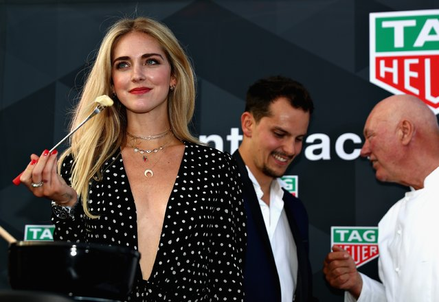 Fashion blogger and model Chiara Ferragni at the TAG Heuer Culinary Challenge on May 27, 2017 in Monte-Carlo, Monaco. (Photo by Dan Istitene/Getty Images)
