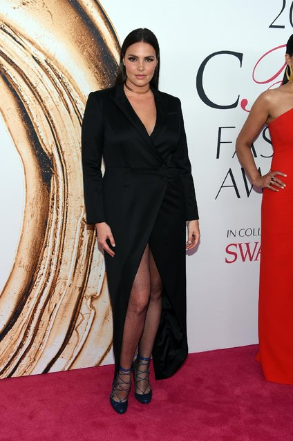 Candice Huffine arrives at the CFDA Fashion Awards at the Hammerstein Ballroom on Monday, June 6, 2016, in New York. (Photo by Evan Agostini/Invision/AP Photo)