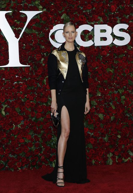 Model Karolina Kurkova arrives for the American Theatre Wing's 70th annual Tony Awards in New York, U.S., June 12, 2016. (Photo by Andrew Kelly/Reuters)