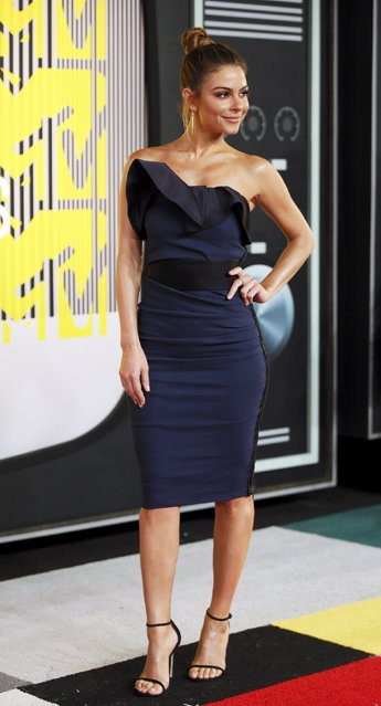 TV personality Maria Menounos arrives at the 2015 MTV Video Music Awards in Los Angeles, California, August 30, 2015. (Photo by Danny Moloshok/Reuters)