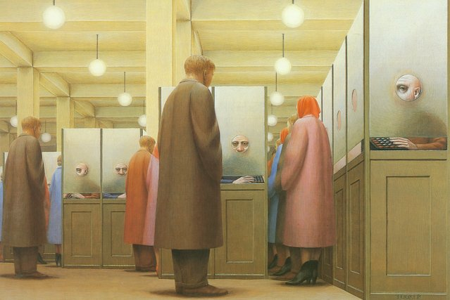 Government Bureau. Artwork by George Tooker