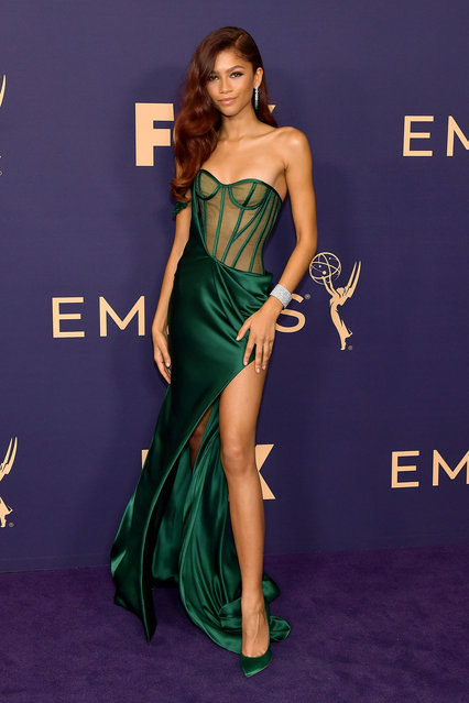 Zendaya attends the 71st Emmy Awards at Microsoft Theater on September 22, 2019 in Los Angeles, California. (Photo by Matt Winkelmeyer/Getty Images)