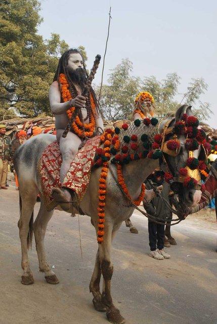 """Taponidhi Shree Anand Akhadaa Panchayati "". (Photo by Kumbhmelaallahabad.gov.in)"