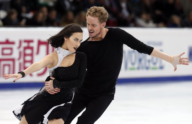 Madison Chock and Evan Bates of the U.S. perform during the ice dance free dance program at the Rostelecom Cup ISU Grand Prix of Figure Skating in Moscow November 15, 2014. (Photo by Grigory Dukor/Reuters)