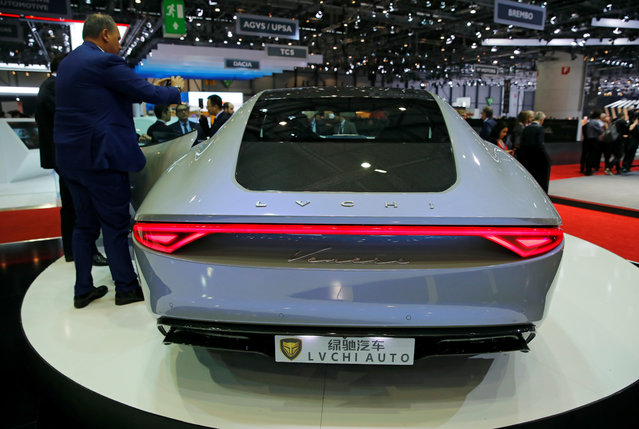 LVCHI Auto Venere is presented during the press day at the 88th Geneva International Motor Show in Geneva, Switzerland on Tuesday, March 6, 2018. (Photo by Denis Balibouse/Reuters)