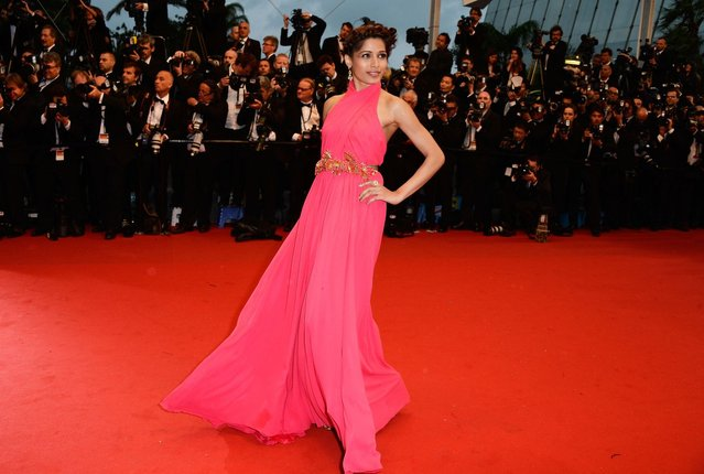 """Freida Pinto attends the Opening Ceremony and """"The Great Gatsby"""" Premiere during the 66th Annual Cannes Film Festival at the Theatre Lumiere on May 15, 2013 in Cannes, France. (Photo by Pascal Le Segretain/Getty Images)"""