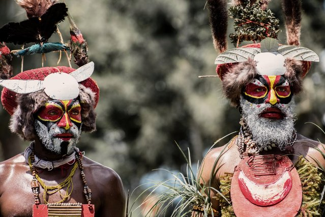 The different tribes were pictured during a gathering known as a Sing-Sing. (Photo by Trevor Cole/Media Drum World)