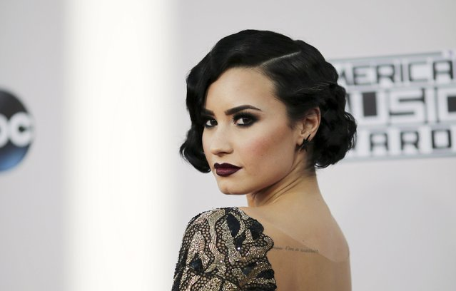 Singer Demi Lovato arrives at the 2015 American Music Awards in Los Angeles, California November 22, 2015. (Photo by David McNew/Reuters)