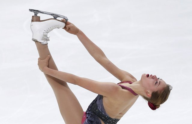 Figure Skating, ISU Grand Prix Rostelecom Cup 2016/2017, Ladies Free Skating in Moscow, Russia on November 5, 2016. Anna Pogorilaya of Russia competes. (Photo by Maxim Shemetov/Reuters)
