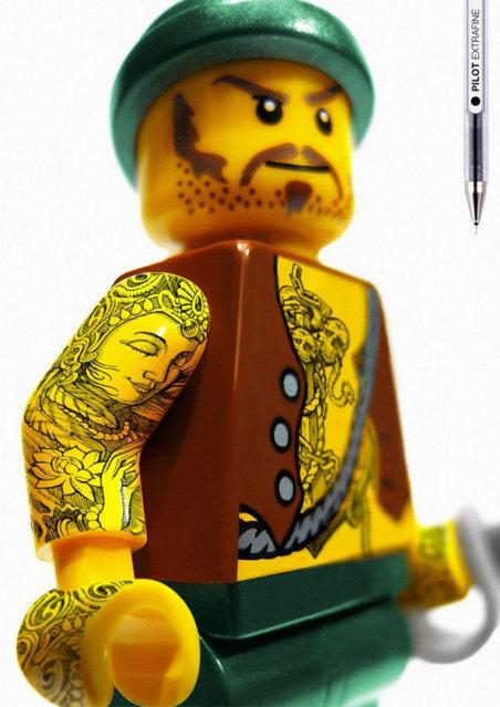LEGO Tattoo By Pilot Extra-Fine