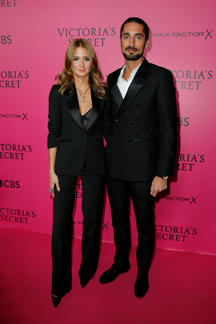Actress Millie Mackintosh and Hugo Taylor pose during a photocall before the 2016 Victoria's Secret Fashion Show at the Grand Palais in Paris, France, November 30, 2016. (Photo by Benoit Tessier/Reuters)