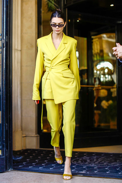 Kendall Jenner is seen on September 26, 2018 in Paris, France on September 26, 2018. (Photo by Splash News and Pictures)