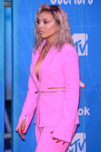 Jesy Nelson attends the MTV EMAs 2018 on November 4, 2018 in Bilbao, Spain. (Photo by Splash News and Pictures)