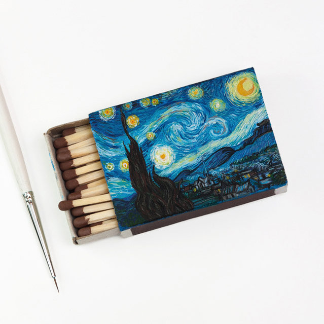 Van Gogh Paintings On Matchboxes By Salavat Fidai