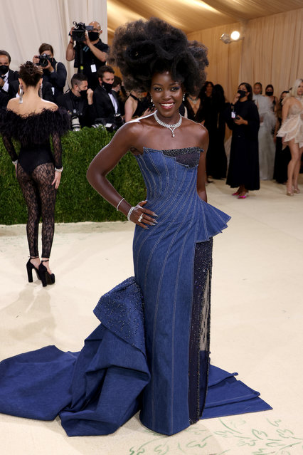 Kenyan-Mexican actress Lupita Nyong'o attends The 2021 Met Gala Celebrating In America: A Lexicon Of Fashion at Metropolitan Museum of Art on September 13, 2021 in New York City. (Photo by John Shearer/WireImage)