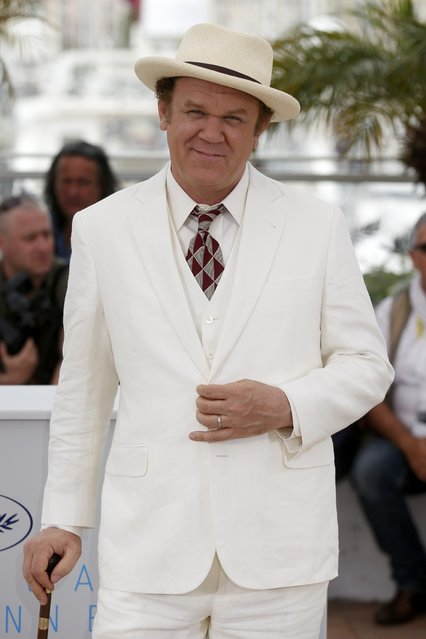 """Cast member John C. Reilly poses during a photocall for the film """"Tale of Tales"""" in competition at the 68th Cannes Film Festival in Cannes, southern France, May 14, 2015. (Photo by Benoit Tessier/Reuters)"""