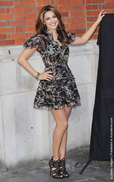 Kelly Brook unveils PETA campaign, targeting Exotic-Skins trade at Covent Garden Piazza