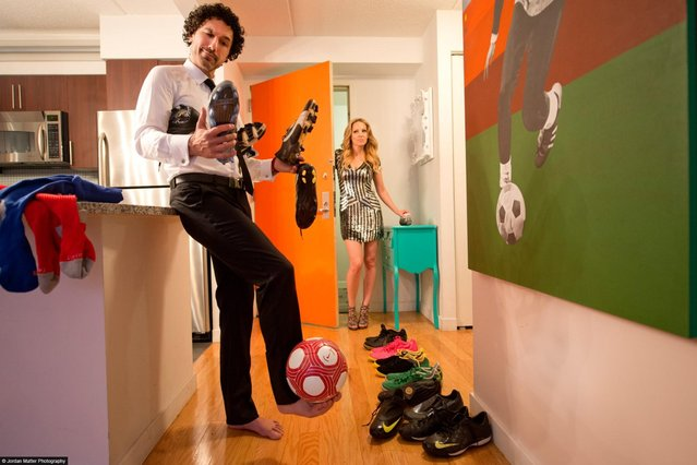 """Dressing For Dinner"" – Ethan Zohn – Professional Soccer Player. (Photo by Jordan Matter)"