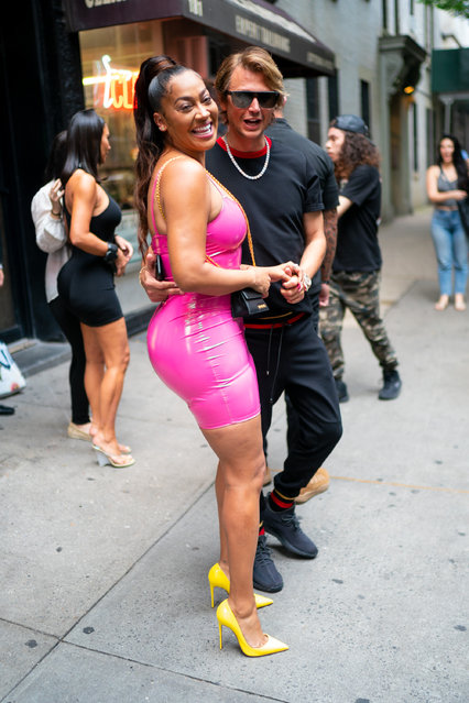Lala Anthony (L) and Jonathan Cheban are seen in the East Village on June 25, 2019 in New York City. (Photo by Gotham/GC Images)
