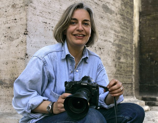 Associated Press photographer Anja Niedringhaus in Rome in April 2005. Niedringhaus, 48, was killed and an AP reporter wounded April 4, 2014, when an Afghan policeman opened fire while they were sitting in their car in eastern Afghanistan. (Photo by Peter Dejong/AP Photo)