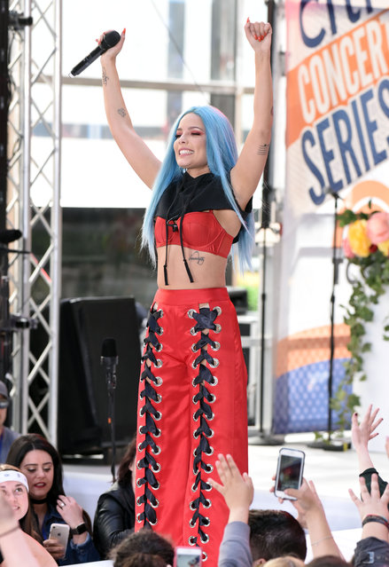 """Halsey performs live on the """"Today"""" show in New York City, New York on June 9, 2017. (Photo by Derek Storm/Splash News and Pictures)"""