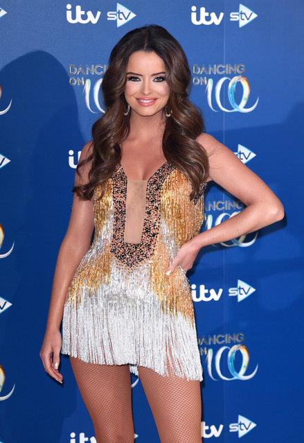 Maura Higgins attends the Dancing On Ice 2019 photocall at the Dancing On Ice Studio, ITV Studios, Old Bovingdon Airfield on December 09, 2019 in Bovingdon, England. (Photo by Karwai Tang/WireImage)