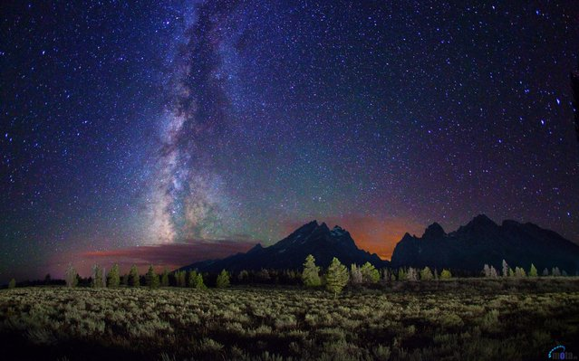 The Milky Way above the Teton mountain range, Wyoming