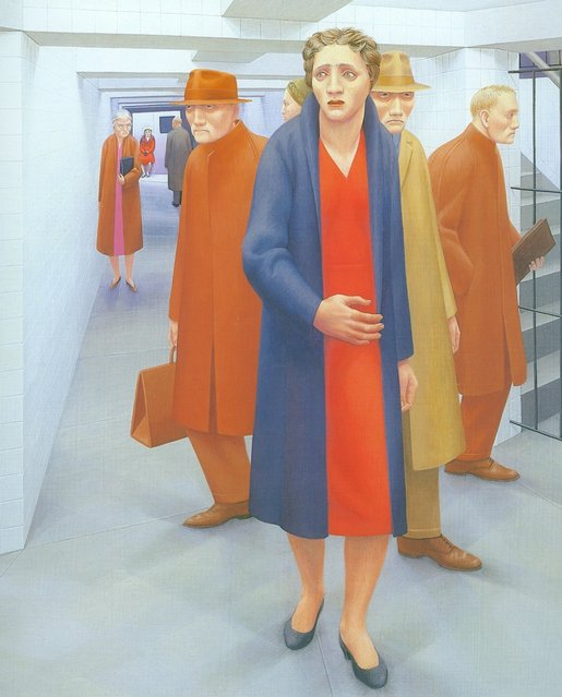 The Subway (Detail). Artwork by George Tooker