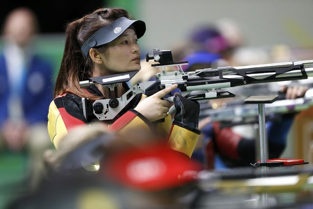 2016 Rio Paralympics, Shooting, Final, R2, Women's 10m Air Rifle Standing SH1, Olympic Shooting Centre, Rio de Janeiro, Brazil on September 8, 2016. Yan Yaping of China competes. (Photo by Carlos Garcia Rawlins/Reuters)