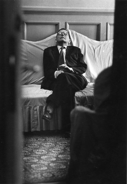 The Twelfth Symphony, 1961. This portrait of the renowned composer Dmitry Shostakovich represents a shift in Soviet poraiture: instead of a posed picture, photographer Vsevolod Tarasevich found out where the composer rested between performances, and shot a candid image in secret. (Photo by Vsevolod Tarasevich/Lumiere Brothers Center for Photography)