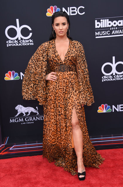 Singer/songwriter Demi Lovato attends the 2018 Billboard Music Awards 2018 at the MGM Grand Resort International on May 20, 2018 in Las Vegas, Nevada. (Photo by Lisa O'Connor/AFP Photo)