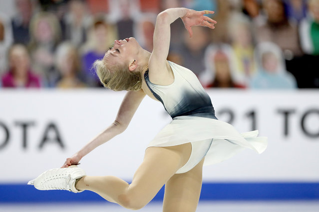 Bradie Tennell skates in the Ladies Free Skate during the U.S. Figure Skating Championships at Orleans Arena on January 15, 2021 in Las Vegas, Nevada. (Photo by Matthew Stockman/Getty Images)